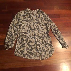 Banana Republic palm print blouse